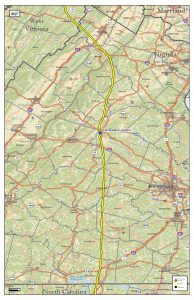General location map for the Spectra Energy Pipeline Project.